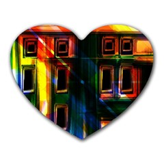 Architecture City Homes Window Heart Mousepads