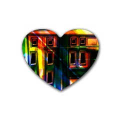 Architecture City Homes Window Heart Coaster (4 Pack)
