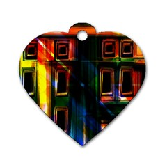 Architecture City Homes Window Dog Tag Heart (two Sides)