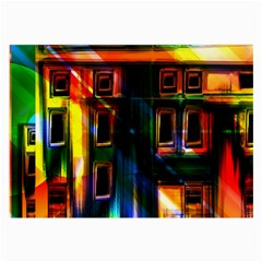 Architecture City Homes Window Large Glasses Cloth (2 Side)