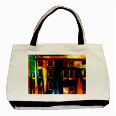Architecture City Homes Window Basic Tote Bag (two Sides)