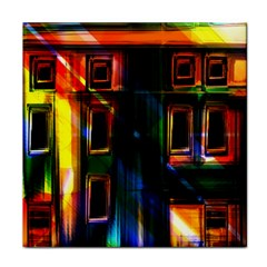 Architecture City Homes Window Face Towel