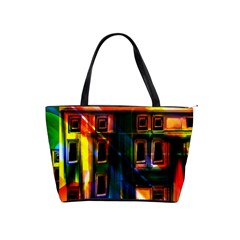 Architecture City Homes Window Shoulder Handbags