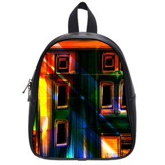 Architecture City Homes Window School Bags (small)