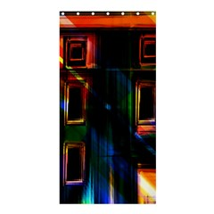Architecture City Homes Window Shower Curtain 36  x 72  (Stall)