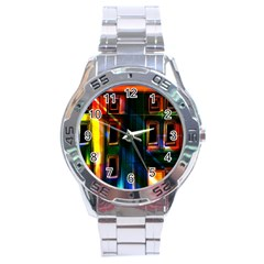 Architecture City Homes Window Stainless Steel Analogue Watch