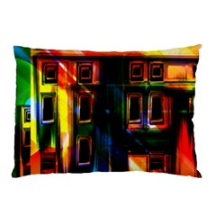 Architecture City Homes Window Pillow Case (two Sides)