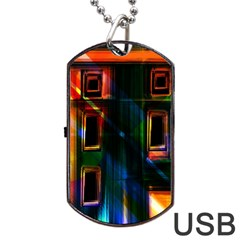 Architecture City Homes Window Dog Tag Usb Flash (two Sides)