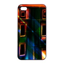 Architecture City Homes Window Apple Iphone 4/4s Seamless Case (black)