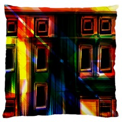 Architecture City Homes Window Large Cushion Case (two Sides)