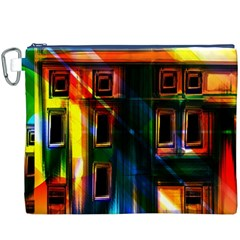 Architecture City Homes Window Canvas Cosmetic Bag (xxxl)