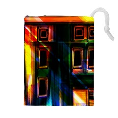 Architecture City Homes Window Drawstring Pouches (extra Large)