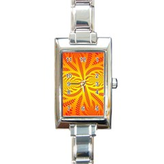 Background Brush Particles Wave Rectangle Italian Charm Watch