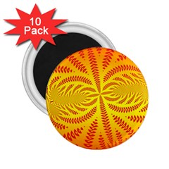 Background Brush Particles Wave 2 25  Magnets (10 Pack)