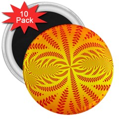 Background Brush Particles Wave 3  Magnets (10 Pack)