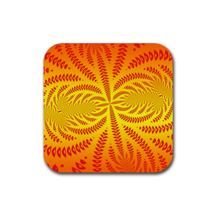 Background Brush Particles Wave Rubber Coaster (Square)