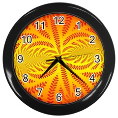 Background Brush Particles Wave Wall Clocks (Black)