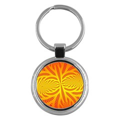Background Brush Particles Wave Key Chains (Round)