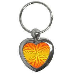 Background Brush Particles Wave Key Chains (heart)