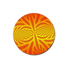 Background Brush Particles Wave Rubber Coaster (round)