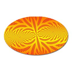 Background Brush Particles Wave Oval Magnet