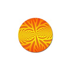 Background Brush Particles Wave Golf Ball Marker (4 Pack)