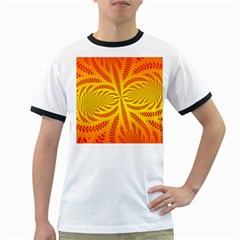 Background Brush Particles Wave Ringer T Shirts
