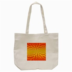 Background Brush Particles Wave Tote Bag (Cream)