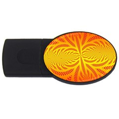 Background Brush Particles Wave Usb Flash Drive Oval (4 Gb)