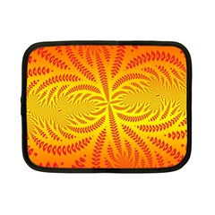 Background Brush Particles Wave Netbook Case (Small)