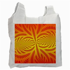 Background Brush Particles Wave Recycle Bag (two Side)