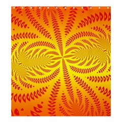 Background Brush Particles Wave Shower Curtain 66  X 72  (large)