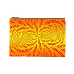 Background Brush Particles Wave Cosmetic Bag (large)