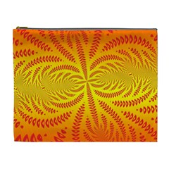 Background Brush Particles Wave Cosmetic Bag (XL)