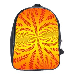 Background Brush Particles Wave School Bags(large)