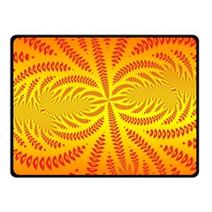 Background Brush Particles Wave Fleece Blanket (small)