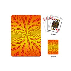 Background Brush Particles Wave Playing Cards (mini)