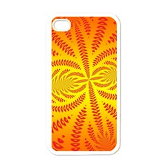 Background Brush Particles Wave Apple Iphone 4 Case (white)