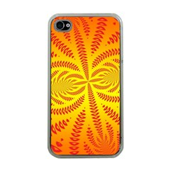 Background Brush Particles Wave Apple iPhone 4 Case (Clear)