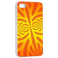 Background Brush Particles Wave Apple Iphone 4/4s Seamless Case (white)