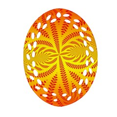 Background Brush Particles Wave Oval Filigree Ornament (two Sides)