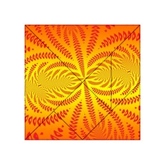 Background Brush Particles Wave Acrylic Tangram Puzzle (4  X 4 )
