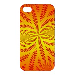 Background Brush Particles Wave Apple Iphone 4/4s Premium Hardshell Case
