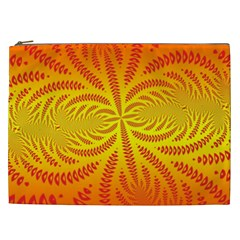 Background Brush Particles Wave Cosmetic Bag (xxl)