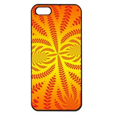 Background Brush Particles Wave Apple Iphone 5 Seamless Case (black)