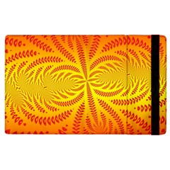 Background Brush Particles Wave Apple Ipad 2 Flip Case