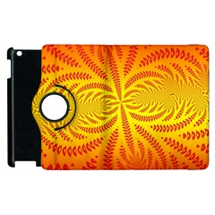 Background Brush Particles Wave Apple Ipad 2 Flip 360 Case