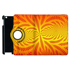 Background Brush Particles Wave Apple iPad 3/4 Flip 360 Case