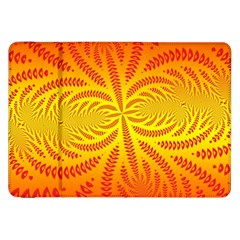 Background Brush Particles Wave Samsung Galaxy Tab 8 9  P7300 Flip Case
