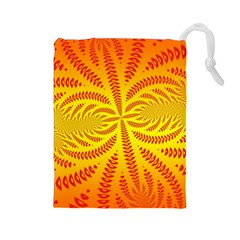 Background Brush Particles Wave Drawstring Pouches (large)